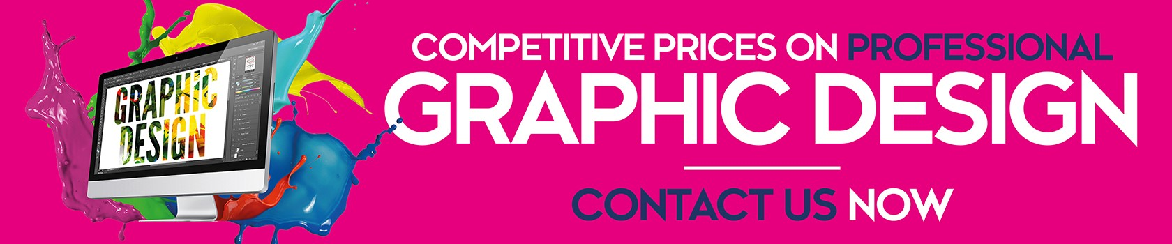 Graphic design for adverts, print and signage